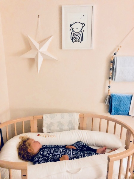 Transitioned to his cot